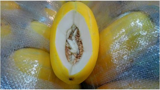 广西新柳邕市场:黄金瓜甜蜜上市 营养健康好味道