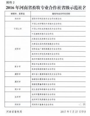 最新公布!2016年河南省生态畜牧业示范场和畜牧专业合作社省级示范社名单抢先看,都有谁?