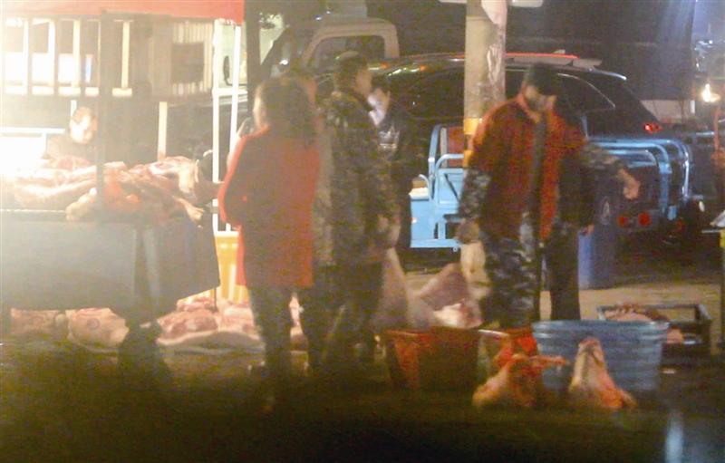 温州娄桥流动猪肉批发点低价猪肉来路不明