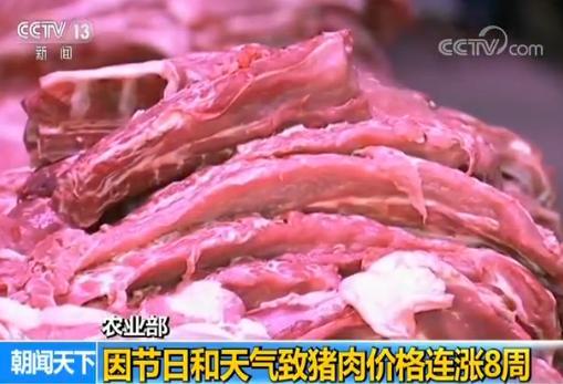 受节日消费和天气影响我国猪肉价格连涨8周