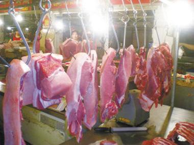 去年安徽猪肉产量下降趋势减缓生猪价格V型走势